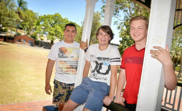 Gympie QTAC applicants Luke Tramacchi, Shaun Ward and Tom Canniffe look to the future.