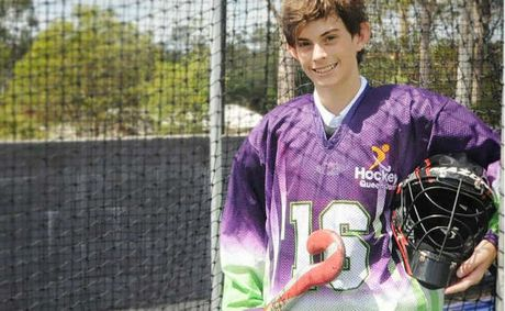Harrison Parker will play goalie for the Queensland under-13 hockey team at the national invitational championships in Canberra next weekend.