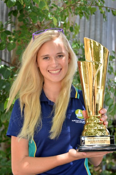 Mykaela Faulkner, who won Gympie Sports Star of the Year, picked up her trophy after being away for the sport she loves most.