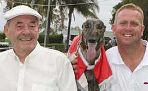 WINNING FORM: Len Antonio (left), Regal Lauryn and trainer Tony Brett.