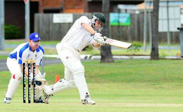 COPYBOOK: Laidley batsman Michael Sippel drives for four in a recent match against Brothers.