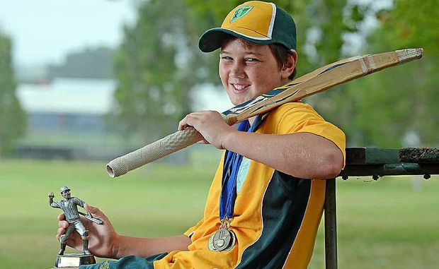 HOWZAT? Young cricket star, Jack Cooper, aged 11 of Corndale.