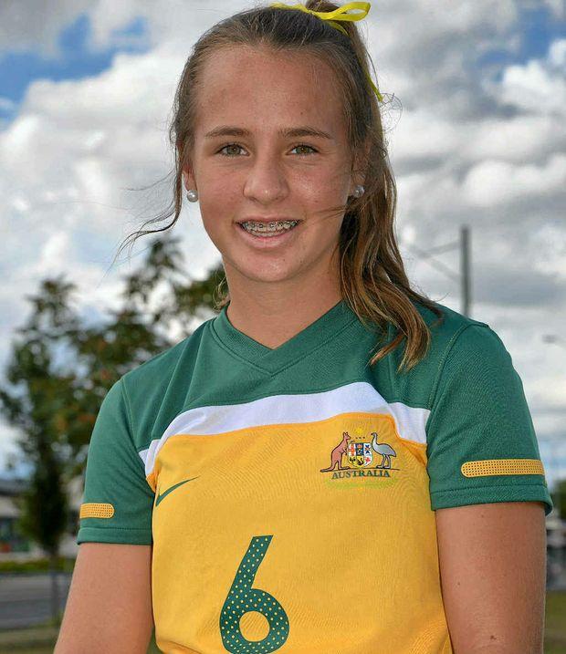 Australian representative Talitha Doro will make an appearance at the Warwick Wolves holiday football program camp at Queens Park tomorrow.