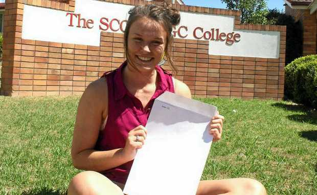 Former Scots PGC student Elliese Ackermann is hopeful to kick-start a career in medicine today, with the release of university offers.