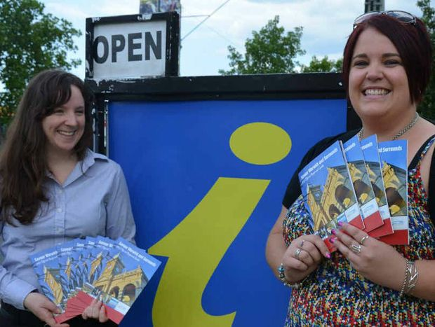 WTE's Shona Gibson and Warwick Daily News' Kaela Freeman with the Savour Warwick and Surrounds. The new guide is available at the Warwick Visitor Information Centre.