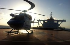 The AGL Action Rescue Helicopter has retrieved a man suffering chest pain from a bulk carrier off Gladstone.