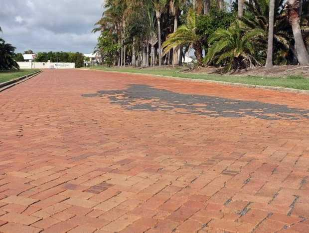 ABOUT TIME: The brickwork at the entrance to Bargara Lakes Drive will be removed.