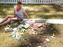 A BABY boy's grave has been desecrated in a cruel and violent act of vandalism that has left his mother shattered anew, four months after his death.