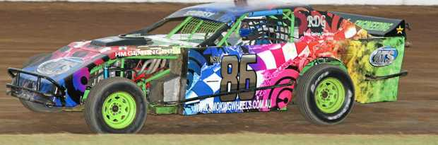 MAN IN FORM: The car of Nick Stubbs, who won the AMCA feature at Grafton last weekend.