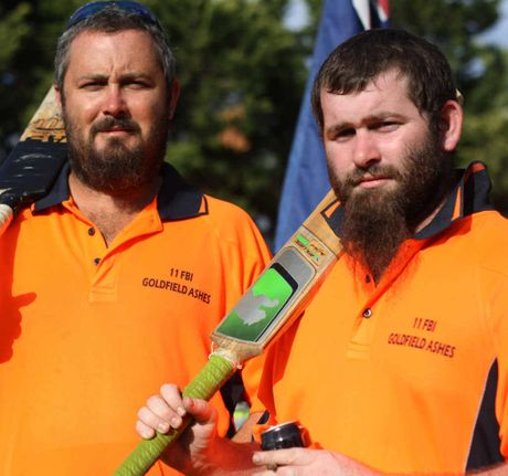 TRIBUTE SERIES: Emerald cricketers Gerard Pyne and Peter Latham will be remembering former teammate Scott Boyle at this year's Goldfield Ashes series.