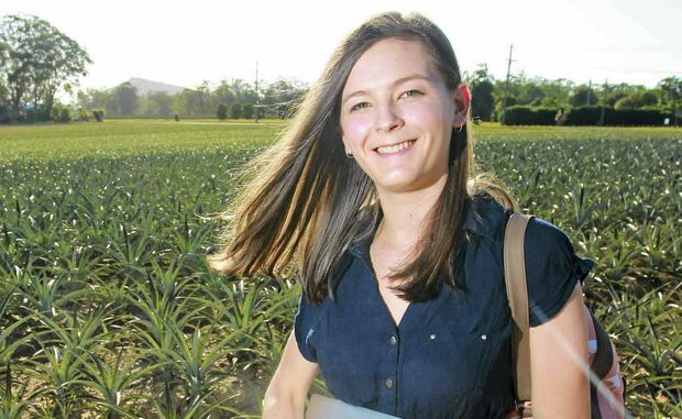 Winterhoff is leaving the family pineapple farm at Glasshouse Mountains to head off to begin a University.