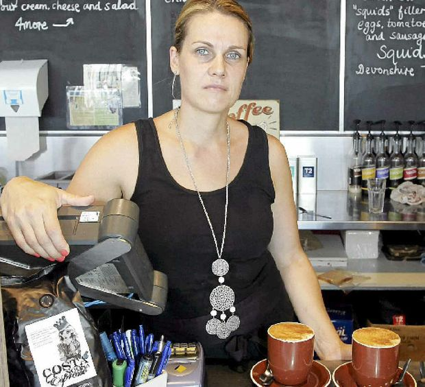 DISHEARTENING: Amanda Kristapsons is upset about a break-in at her Three Squids Cafe at Coolum Park Shopping Centre.