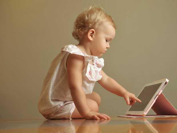 Lyla Chrzescijanski is a whiz with the iPad.