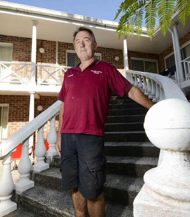 MOTEL OWNER: Graham Lees is considering solutions.