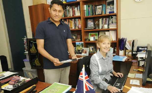 ON A MISSION: Rotary Peace Fellow and former Burmese activist Naing Ko Ko is learning about Australian politics with Federal MP Janelle Saffin.