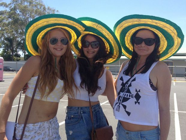 Hats helped punters stay cool at the Gold Coast Big Day Out today.