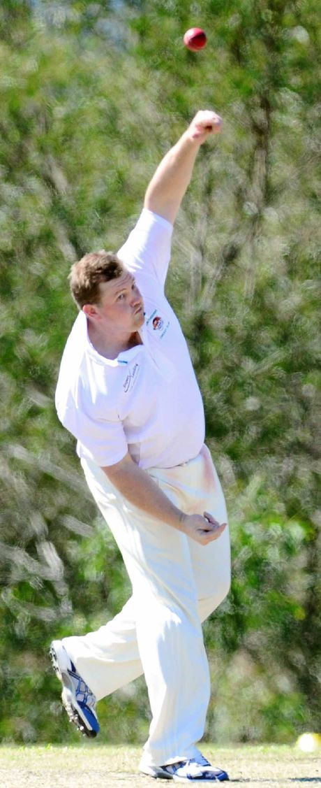 STRIKE POWER: Paul Milne picked up four wickets as Ipswich Logan Hornets accounted for Queensland Sub Districts.
