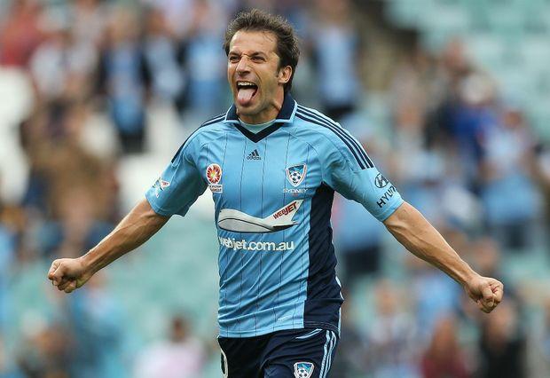 Sydney FC player Alessandro Del Piero.