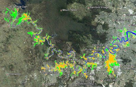 IF ONLY: The Maurice Blackburn flood map based on a January 2011 flood map