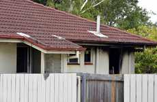DISASTER NO 2: Fire damage to the property on Jane St in Leichhardt (above and inset); The QT from Boxing Day 2011 (below).