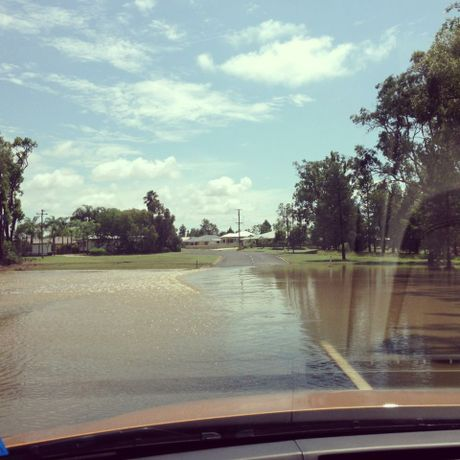 Minor flooding hit Chinchilla at the weekend.