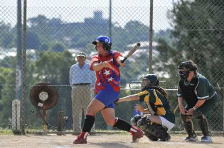 SWINGING OUT: All Stars hitter Lindy Masters.