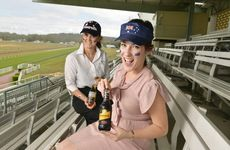 Lisa Wallace from Ipswich Turf Club and Lauren Roche from The Queensland Times promote this Sunday's Australia Day race meet.