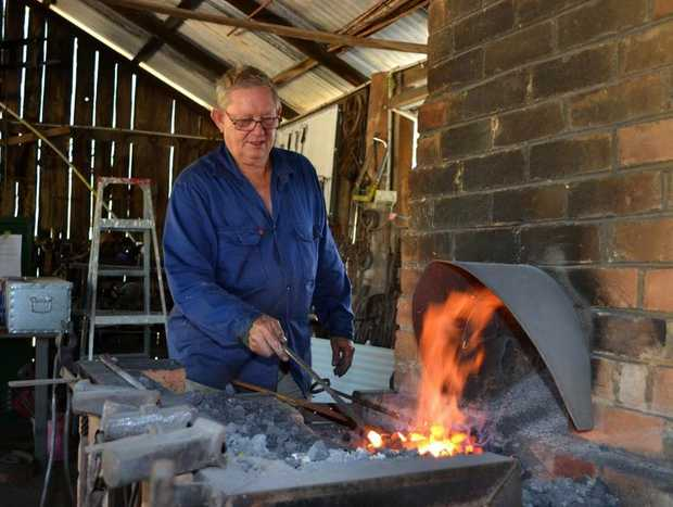 Blacksmith Greg Woodbine will be a part of Australia Day celebrations at the Caboolture Historical Village.