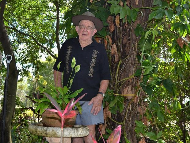 Caboolture Garden Club founding member Tom Morgan looks proudly over the garden he helped create at Caboolture Historical Village.
