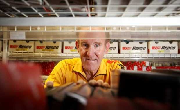 Glen Saunders retired after 45 years working at Repco. Photo Allan Reinikka / The Morning Bulletin