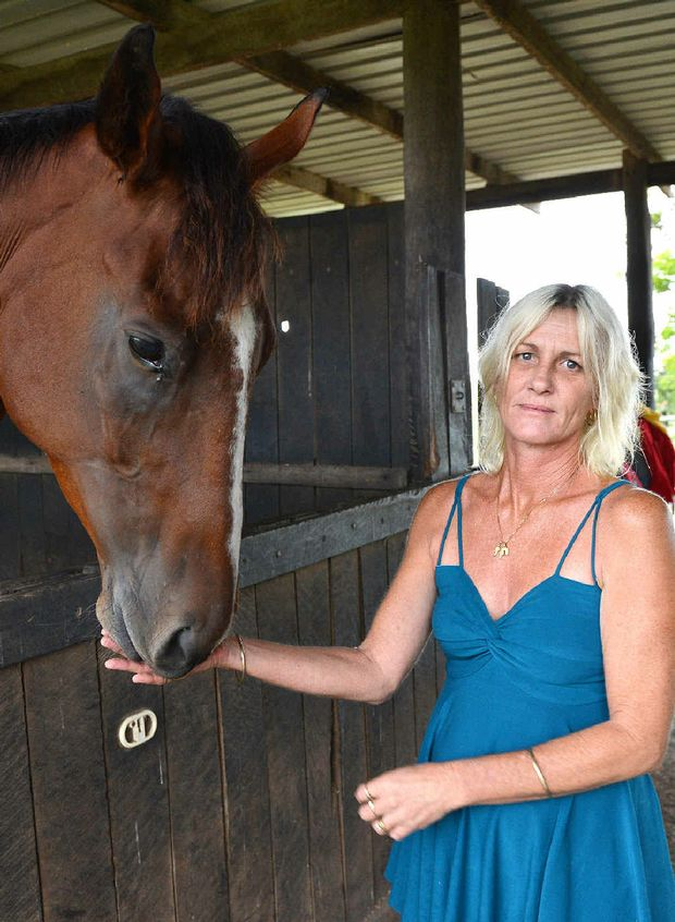 BLAME GAME: Concerned Patrons of Mackay Racing spokeswoman Tracy Adair, with The Verve, is calling for the current committee to stand aside to ensure the future of racing in Mackay.