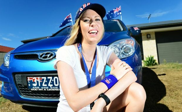 Chandese Watts of Wulkuraka loves to get into the spirit of Australia Day with Aussie-themed decorations for her car.