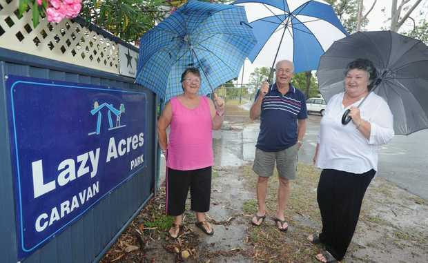 Lazy Acres Caravan Park residents, including Judy Darby and Ranald and Carol Rauschenbach have been thrown a lifeline.