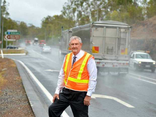 Gympie regional mayor Ron Dyne at the Wide Bay Bruce Hwy intersection.