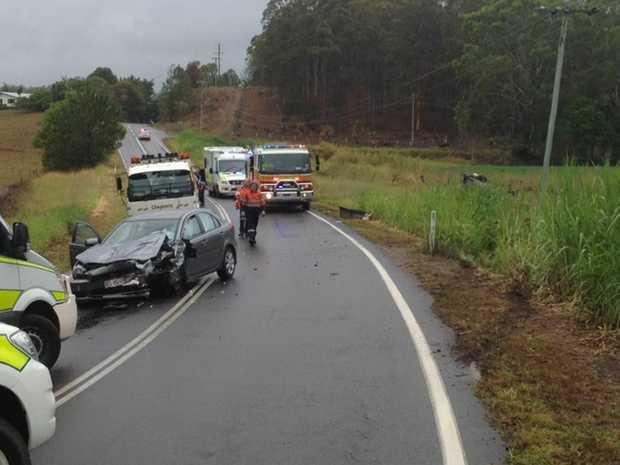 The scene of the crash on Bli Bli Rd.