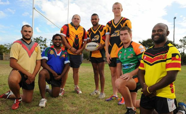 TRADITION CONTINUES: Bundaberg Eels' players are ready for the weekend's action at Rockhampton. L-R: Jared Tanner, Willie Nagas, Corey Tanner, Matt Tanner, Kyle Laybutt, Ian Ell, Andrew Mason. Photo: Mike Knott / NewsMail