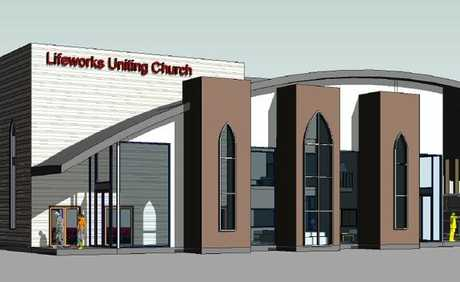 An artist's impression of the $1.7 million first stage of the new Lifeworks Uniting Church in