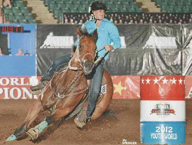 Tamika Anderson performs at the National Barrel Horse Association Youth World Championships.