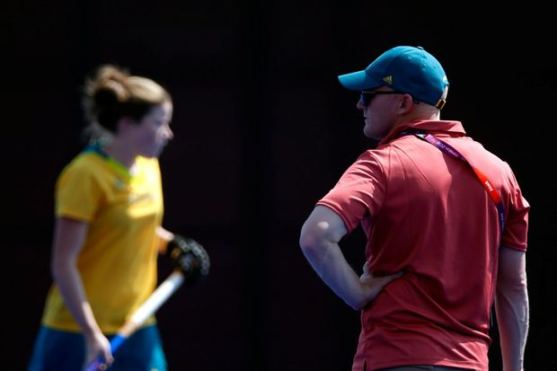 Hockeyroos Head Coach Adam Commens.