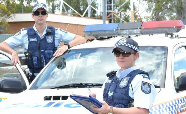 LOCK IT: Constable Rhys Nasternak and Senior Constable Jodie Tahana will be on the look out for unlocked cars in Dalby.  Photo Gen Kennedy / Dalby Herald