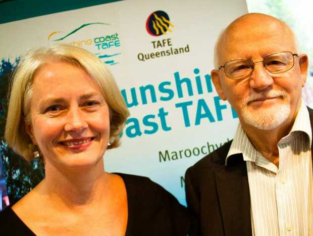 Incoming Sunshine Coast TAFE director Leeza Boyce left has outlined her vision to build on retiring Director Ross Hepworth's outstanding legacy.