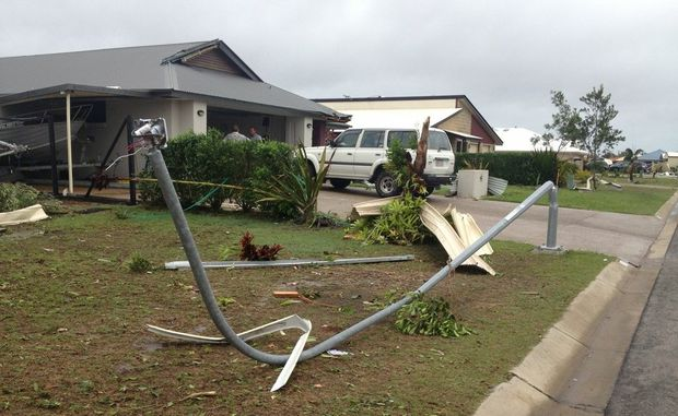 The mini-tornado that hit Burrum Heads left a trail of destruction.