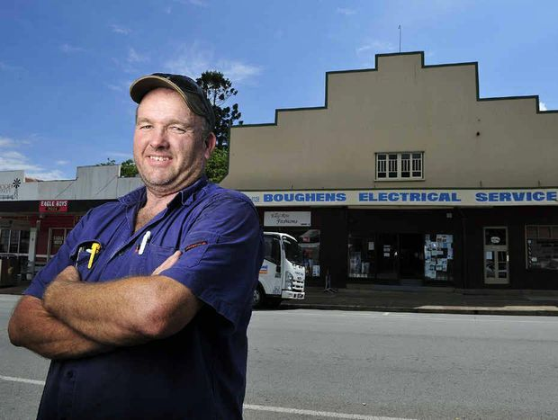 CENTRE STAGE: Boughen family descendant Noel Boughen out the front of what was the newer Majestic Theatre in Rosewood.