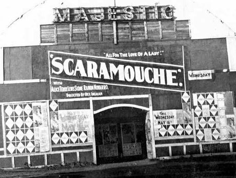 The old Majestic Theatre in Rosewood in the 1920s.