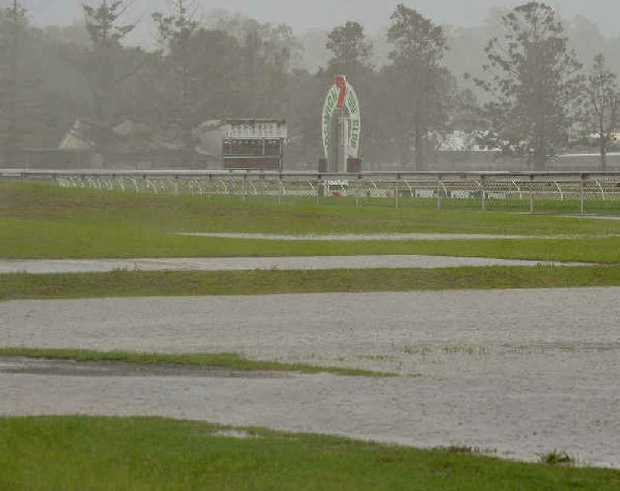 NO SPORT: The race meeting planned for Ipswich yesterday, along with all other outdoor sport over the weekend, was abandoned due to the rain.