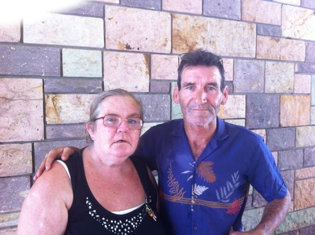 Narelle and Darryl have watched their East Bundaberg home fall victim to flooding once again.