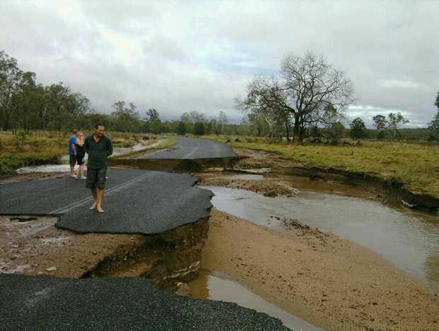The road into Turkey Beach at Sandy Creek.