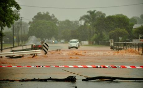FLOODED: Towns across the South Burnett are isolated due to heavy rain.