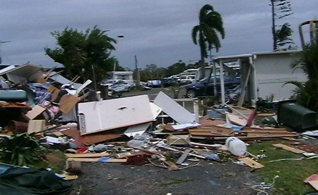 Burrum Heads has been left reeling after a tornado ripped through the town on Sunday.