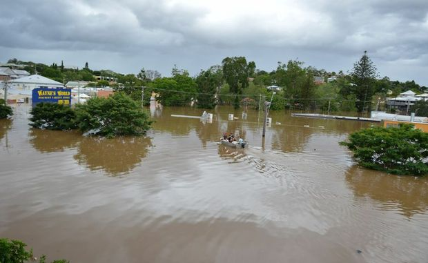 Looking over Telstra shop in Gympie.